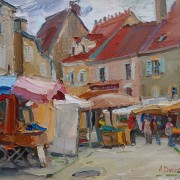 Market in Noyers A. Dukhanina