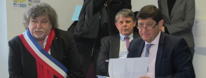 Bernard Moraine, Maire de Joigny et Patrick Kanner, Ministre de la ville, de la jeunesse et des sports